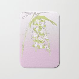 Australian Orchid Design by Chrissy Wild Bath Mat