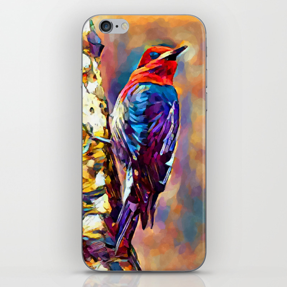 Red-breasted Sapsucker Iphone & Ipod Skin by Shrenk (PSK9010163) photo