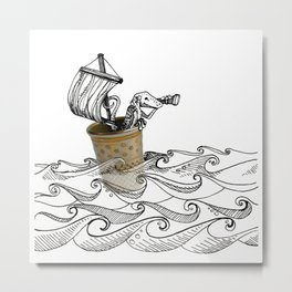 A Salty Lizard Metal Print