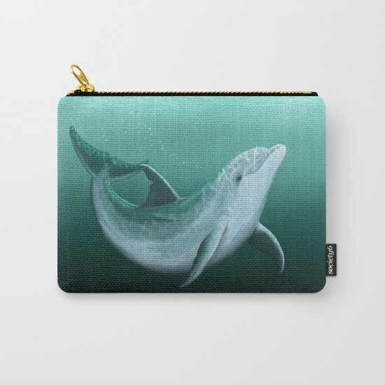 """Riversoul"" by Amber Marine ~ Indian River Lagoon bottlenose dolphin art, (Copyright 2014) Carry-All Pouch"
