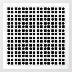 Squares & circles pattern Art Print