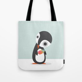 Pingu Loves Icecream Tote Bag