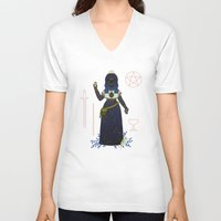 tarot V-neck T-shirts featuring Witch Series: Tarot Cards by LordofMasks
