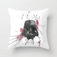 dark side Throw Pillows featuring Dark Side by SpooksieBoo