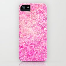 Girly Pink Paisley Abstract Pattern Illustration iPhone (5, 5s) Slim Case