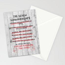 The Seven Commandments - Animal Farm Stationery Cards