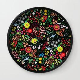 Summer Rhapsody Pattern Wall Clock
