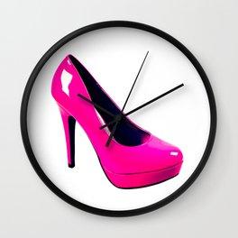 Fashionable high heels with platform sole Wall Clock