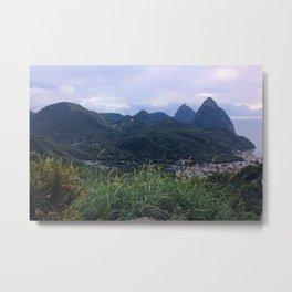 Pitons—Saint Lucia Metal Print