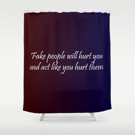 Fake People Shower Curtain
