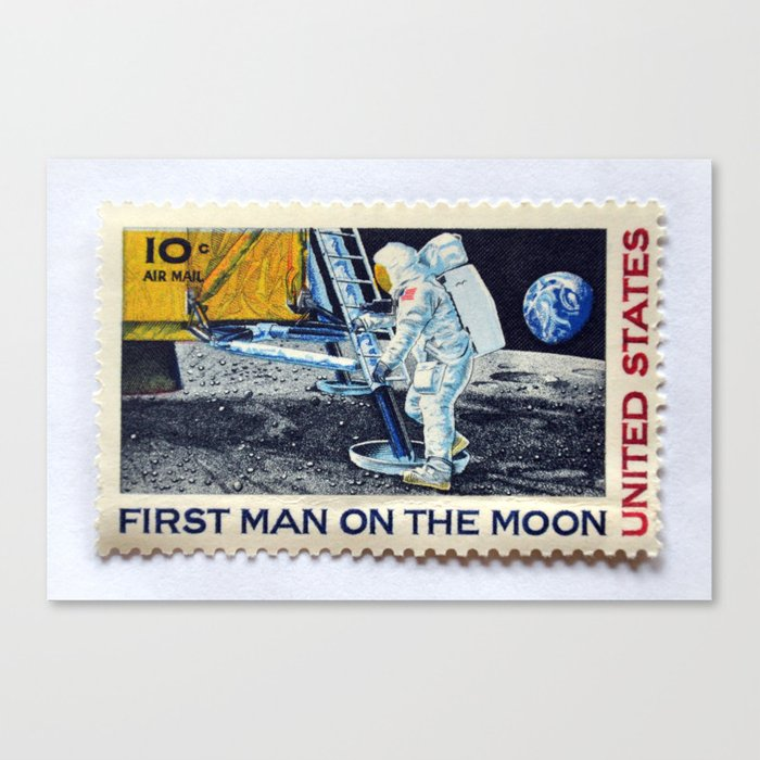 FIRST MAN ON THE MOON Canvas Print