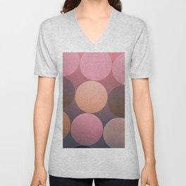 Pink Shadows Moon Unisex V-Neck