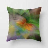 flight Throw Pillows featuring Flight by Deborah Janke