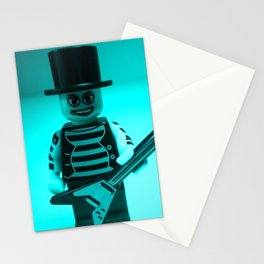 LEGO Custom Rock Star Band Minifigure with Guitar by Chillee Wilson Stationery Cards
