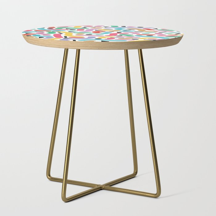 Summer Rainbow Squiggles Side Table