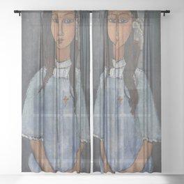 Alice by Amedeo Modigliani Sheer Curtain