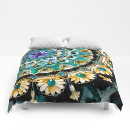Watercolor Mandala Comforters