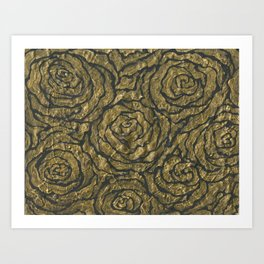 Intense Rose Print on Textured Canvas Art Print