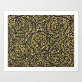 Intense Rose Print on Textured Canvas Art Print