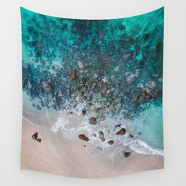 The Ocean Drone Photo Wall Tapestry