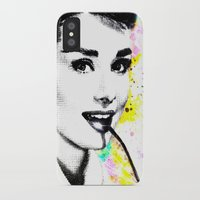 audrey hepburn iPhone & iPod Cases featuring AUDREY HEPBURN by Vertigo