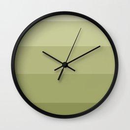 Olive striped Wall Clock