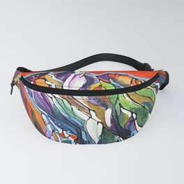 Freezing Hot Colorful Mountain Art Fanny Pack
