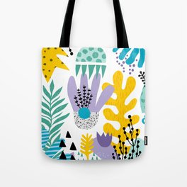 Abstract Plants Pattern Tote Bag