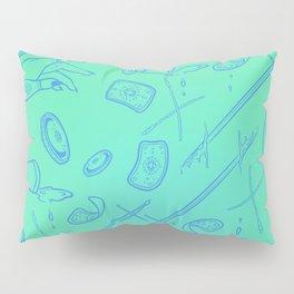 Tarot Illustration (blue and teal) Pillow Sham