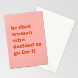 Female Empowerment Entrepreneur Quote Stationery Cards