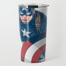 CaptainAmerica Super Hero Character Travel Mug