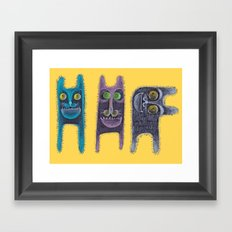 Army of rabbits Framed Art Print