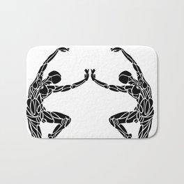 Ballet Pose Stencil # Dance_Ink Bath Mat