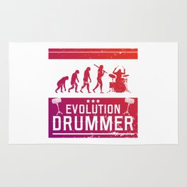 Evolution Drummer | Drums Musician Rug