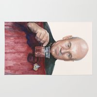 picard Area & Throw Rugs featuring Tea. Earl Grey. Hot. Captain Picard Star Trek | Watercolor by Olechka