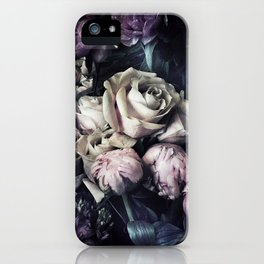 Roses and peonies vintage style iPhone Case