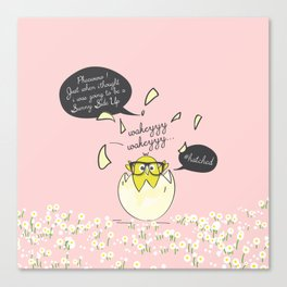 #Hatched Pink Canvas Print