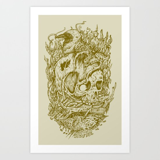 Fall Remains Art Print