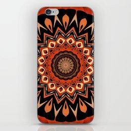 Boho Chic Rustic Orange Mandala iPhone Skin