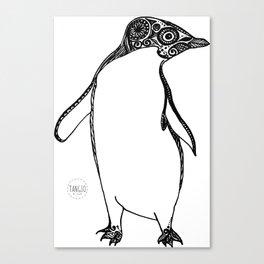 Inspired Penguin Canvas Print