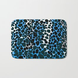 ANIMAL PRINT  BLUE BLACK AND GRAY Bath Mat