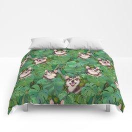 Pomsky Garden Comforters