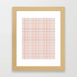 BOHO GRID Framed Art Print