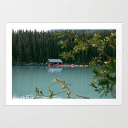Lake Louise Lodge Art Print