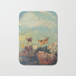 Odilon Redon - Butterflies . Bath Mat