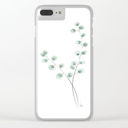 Eucalyptus II - Green Clear iPhone Case