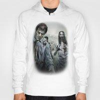 walking dead Hoodies featuring Zombie by Joe Roberts