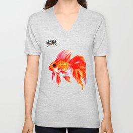 Goldfish and Cicada Unisex V-Neck