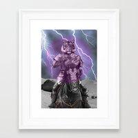 tigger Framed Art Prints featuring Sir Tigger by Ginger Pigg Art & Design