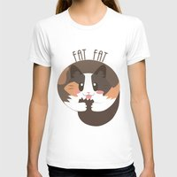 fat T-shirts featuring Fat Fat the Cat! by Fat Fat